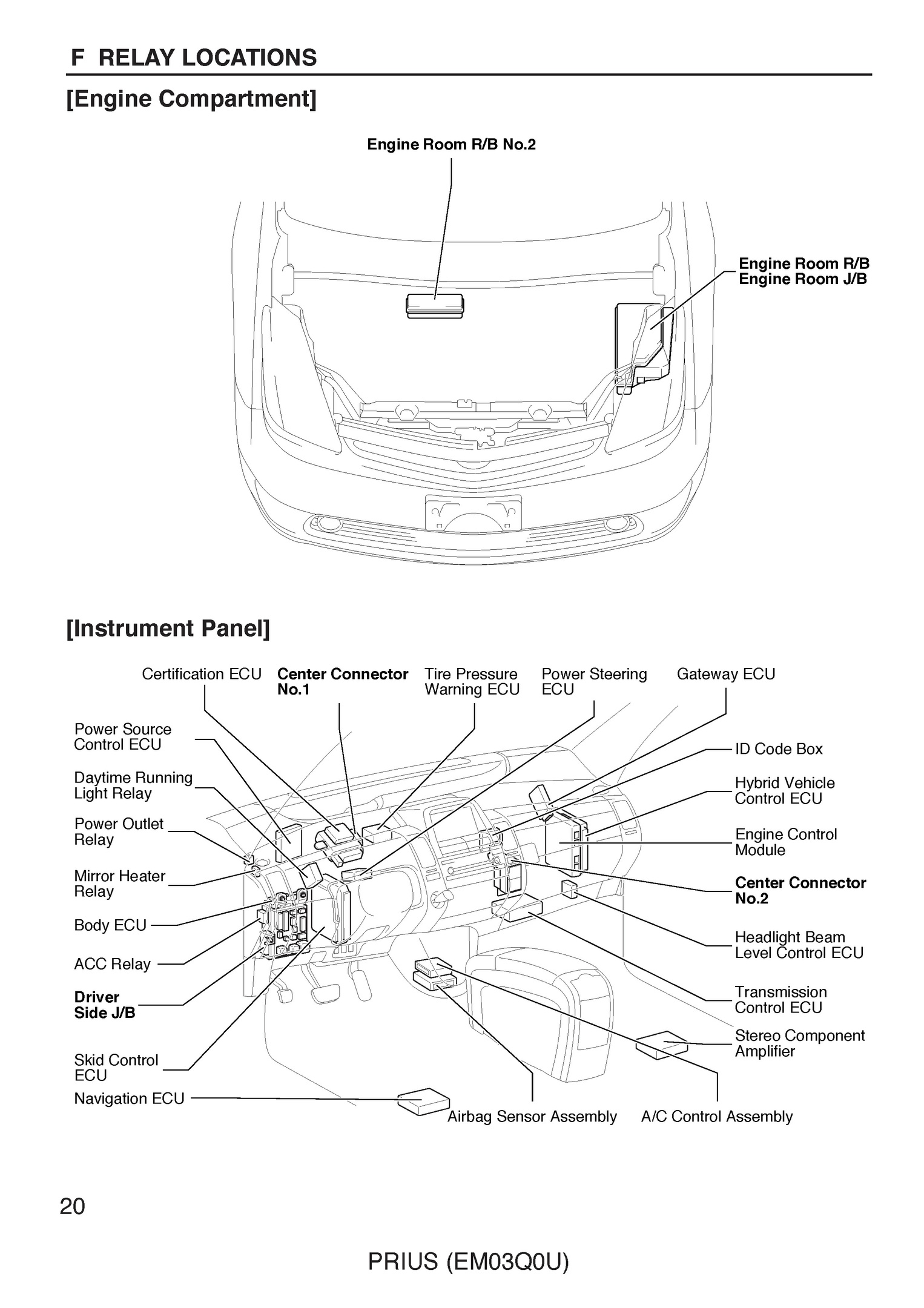 Free 2007 Toyota Prius Oem Electrical Wiring Diagram Schematics Sample Pages