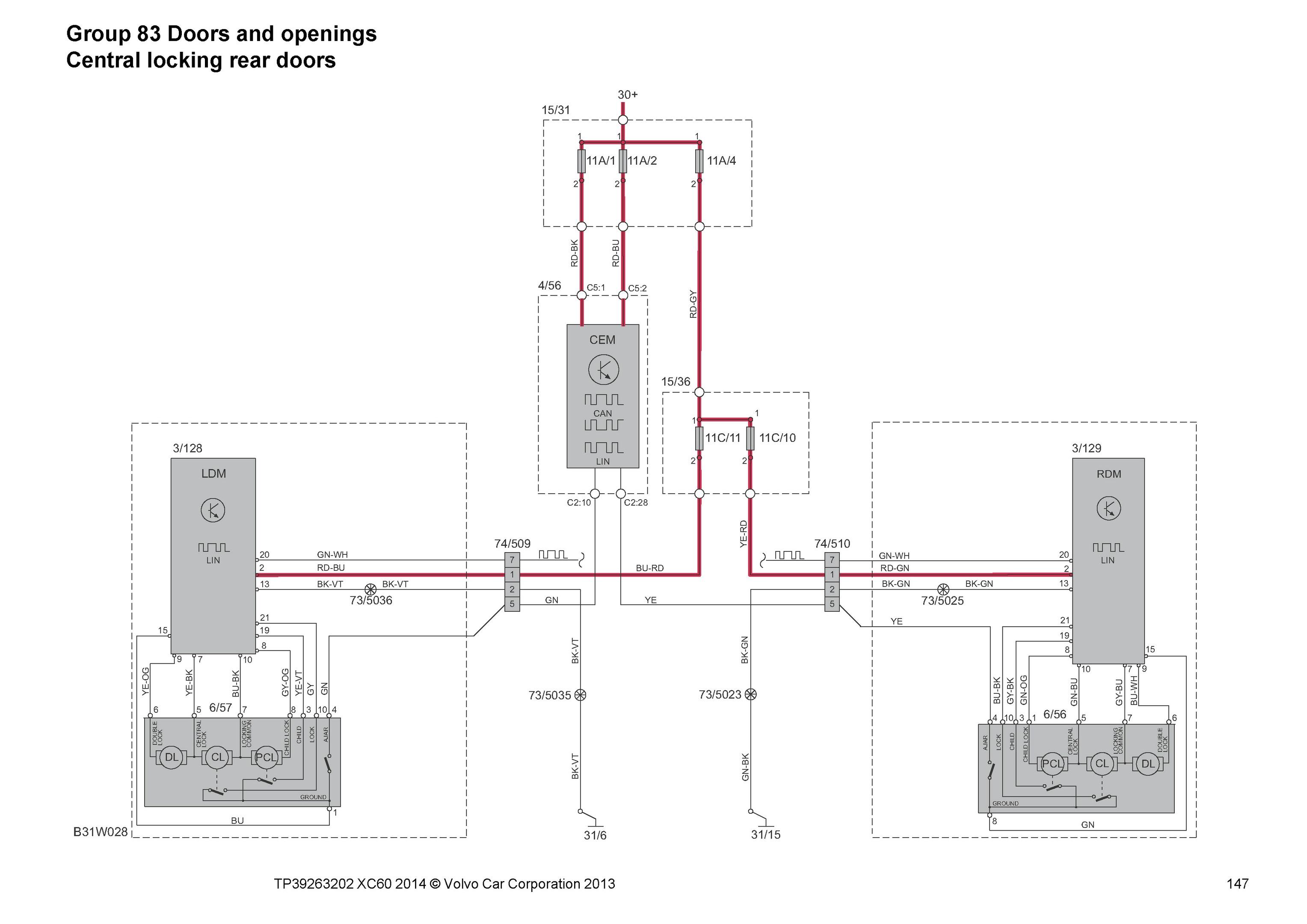 2014 Volvo Xc60  Oem Electrical Wiring Diagrams