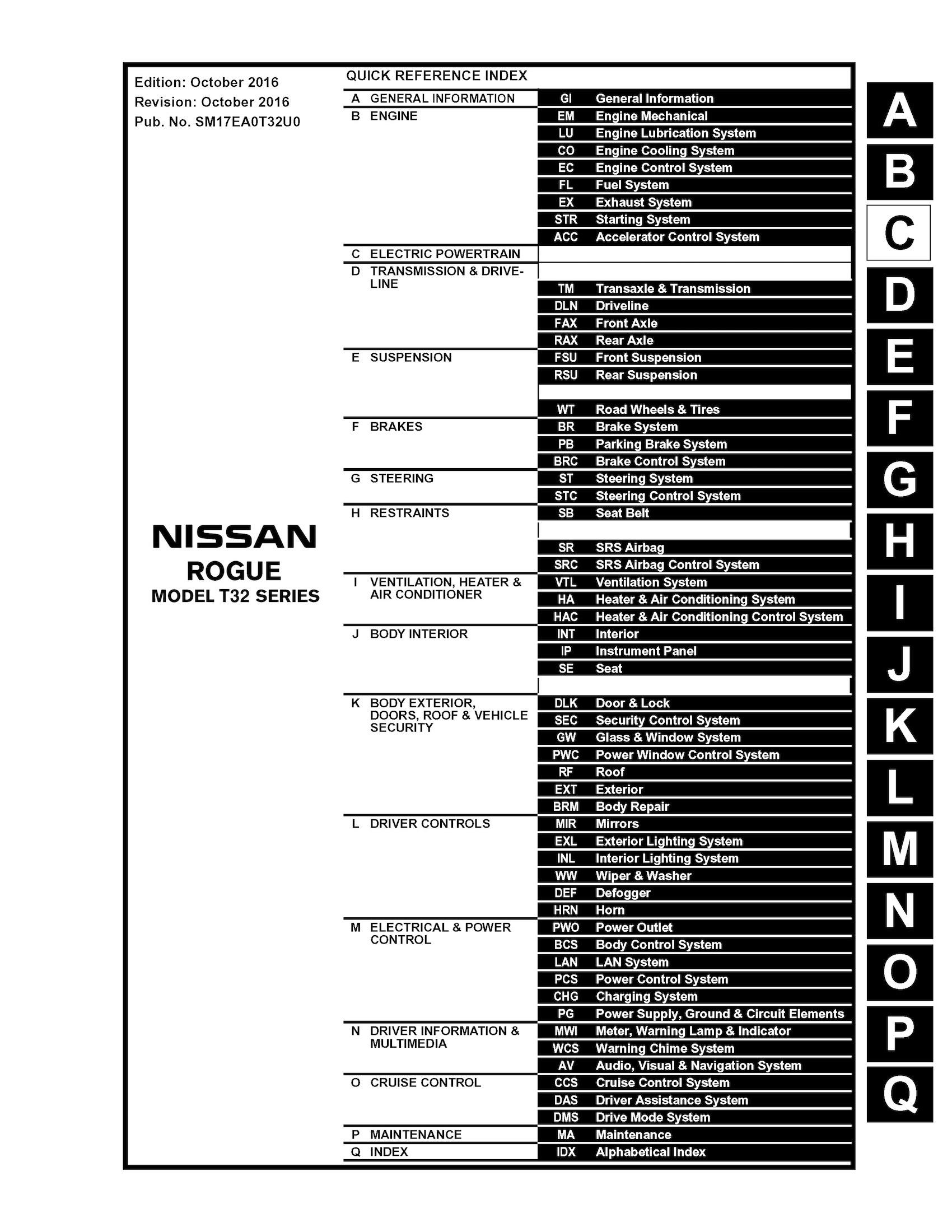 2009 nissan rogue repair manual