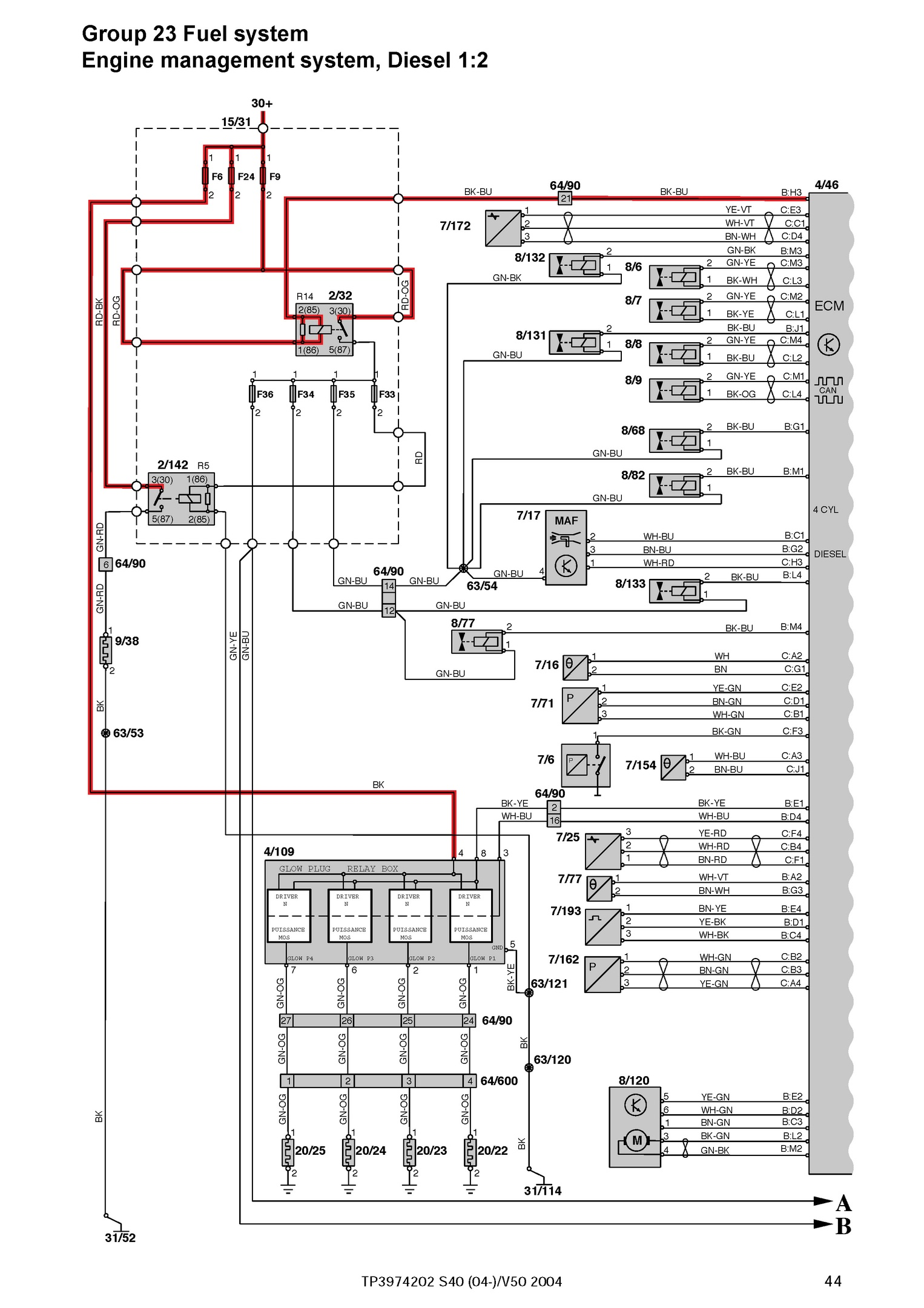 FREE 2004 Volvo S40, OEM Electrical Wiring Diagrams. - OEM ... Electrical Wiring Diagram Free on ac power plugs and sockets, distribution board, knob and tube wiring, three-phase electric power, circuit breaker, ring circuit, light switch, mains electricity by country, electrical system design, power cable, national electrical code, home wiring, circuit diagram, electrical conduit, earthing system, junction box, electrical wiring in north america, ground and neutral,