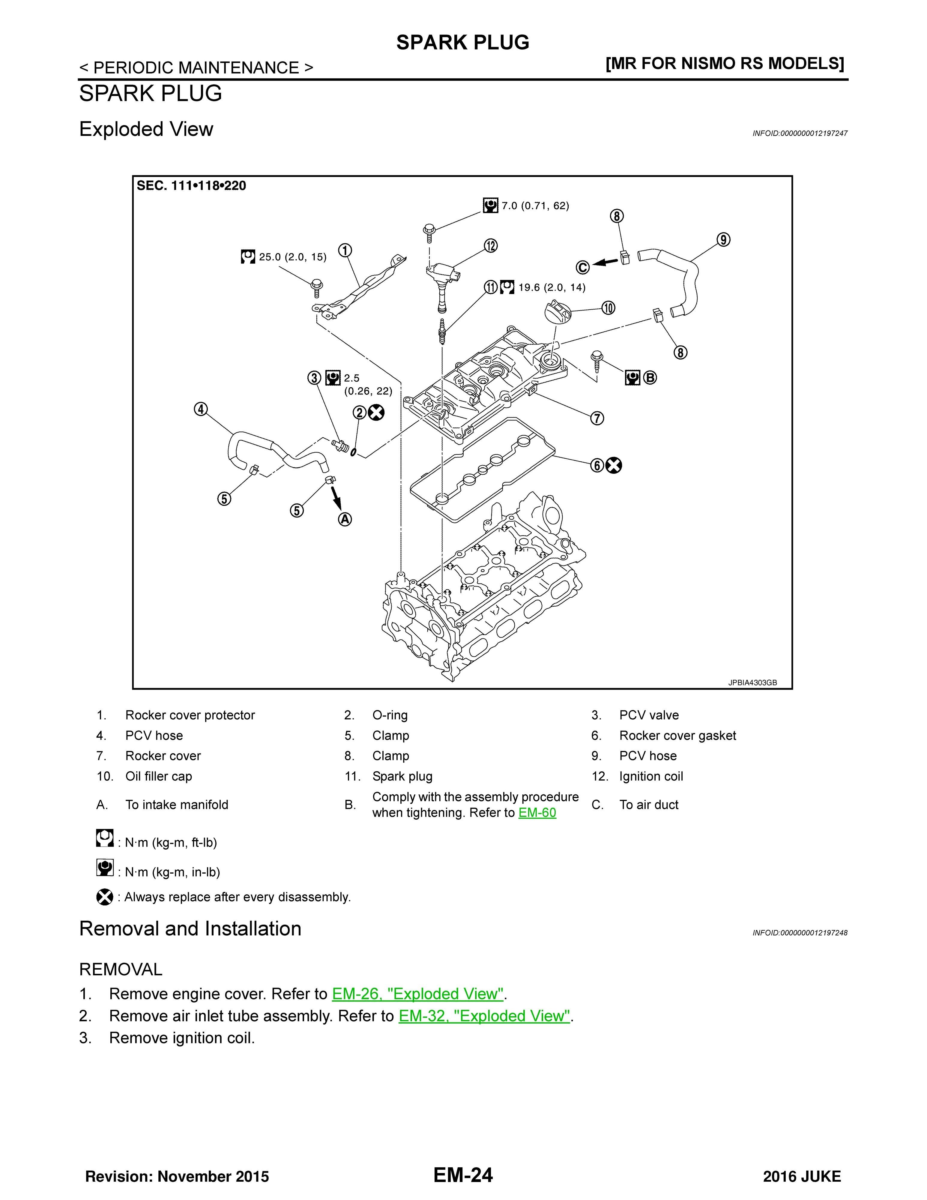 2016 Nissan Juke F15 Oem Factory Service And Repair M Wiring Diagram Sample Pages
