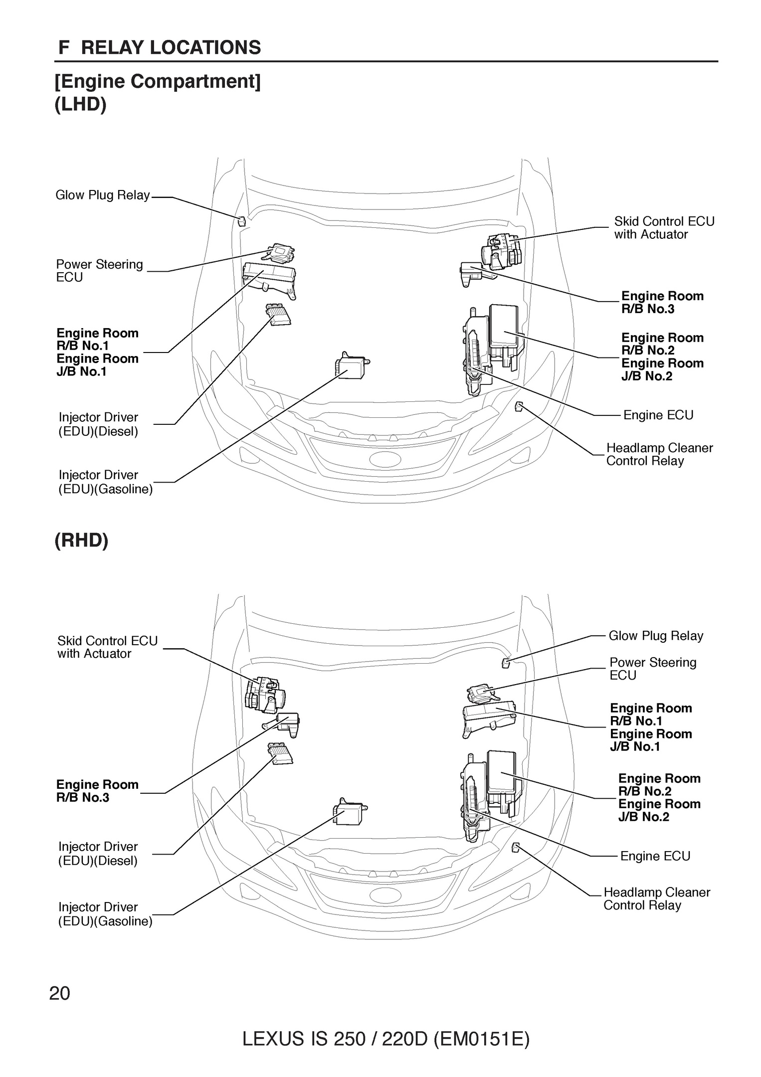 Free 2005 Lexus Is250 220d Oem Electrical Wiring Control Relay Overall Diagram