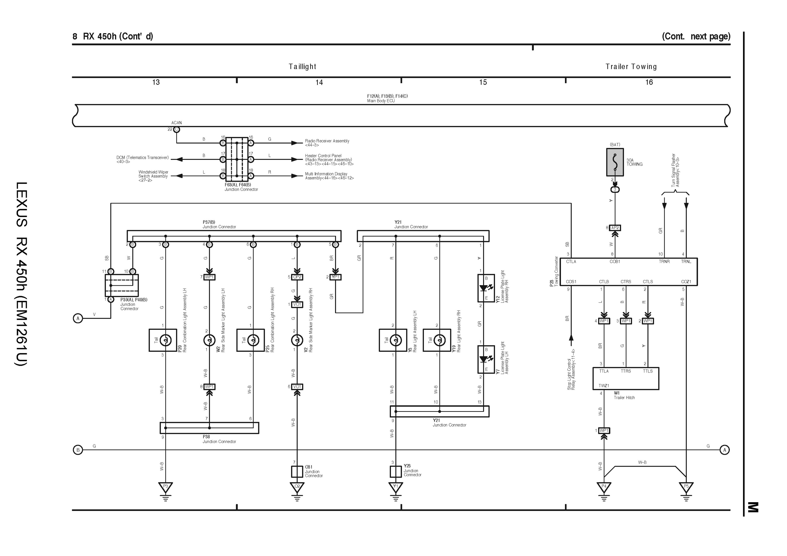 2009 lexus rx450h oem electrical wiring diagram language english file type pdf