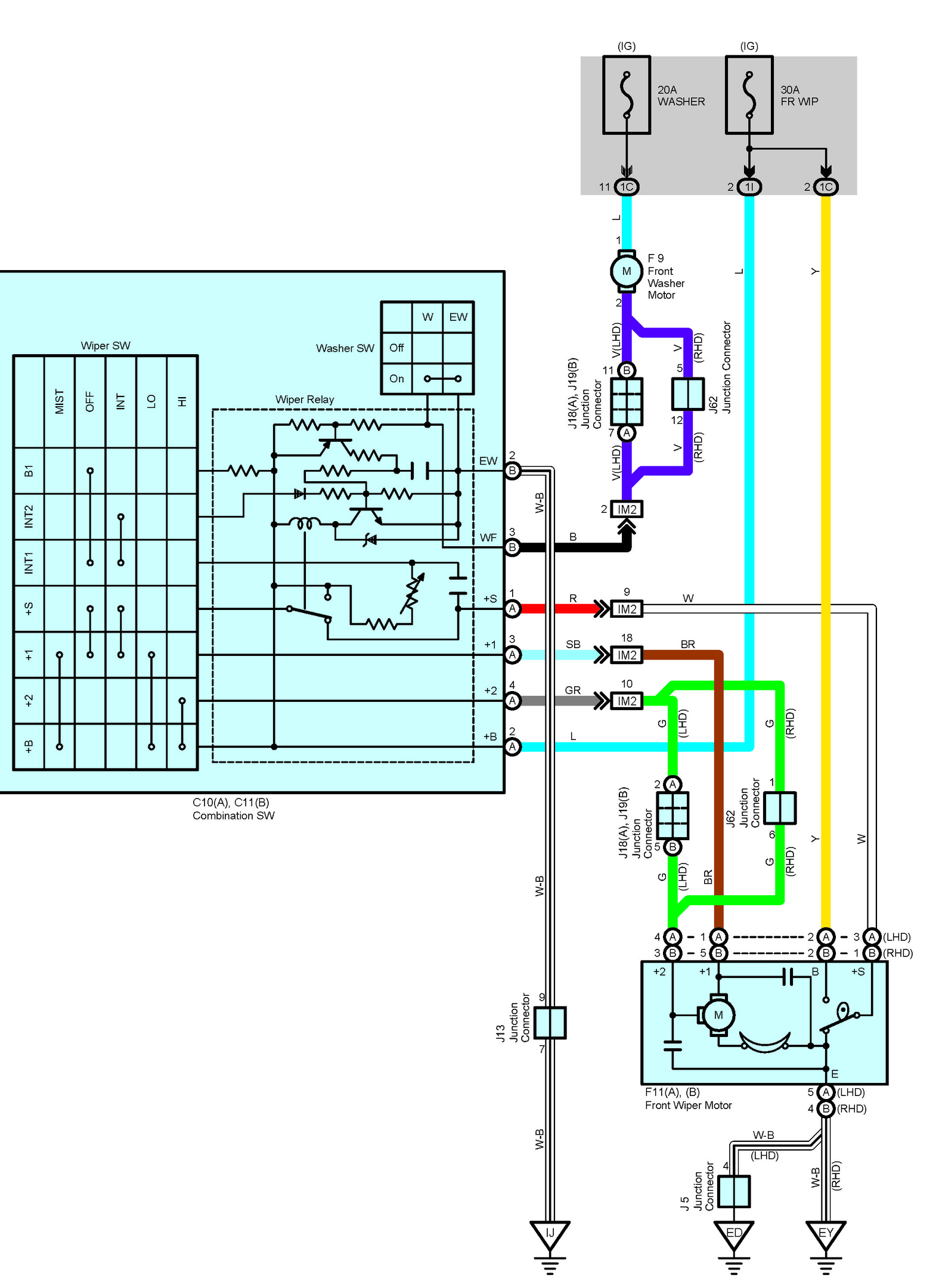 Lexus Wiper Switch Diagram - Electrical Work Wiring Diagram •