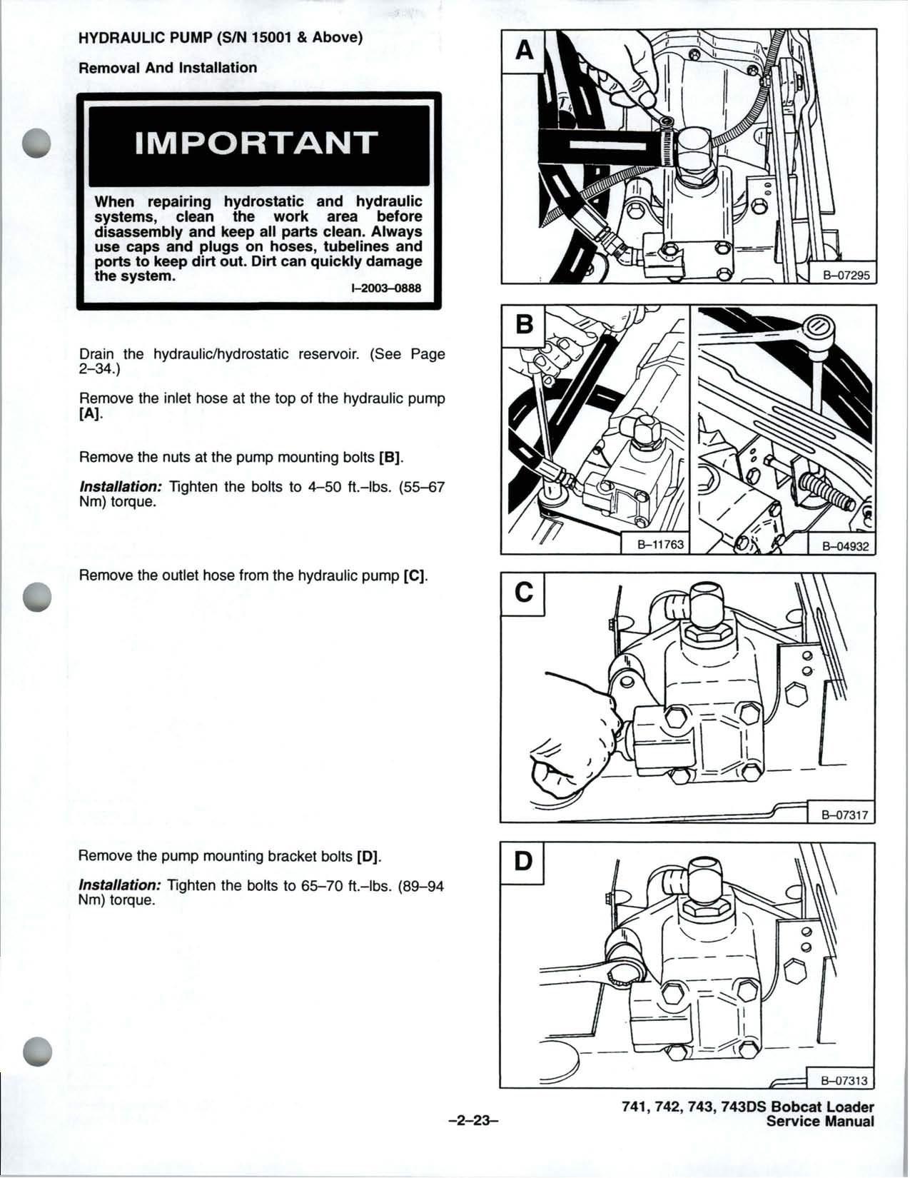 Bobcat 741, 742, 743, 743DS Factory Service and Repair Manual