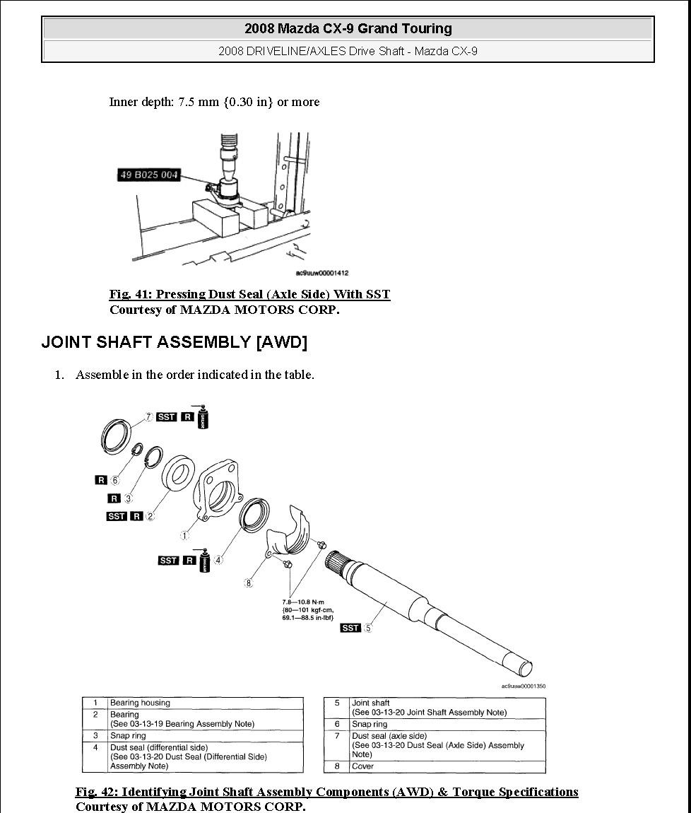 Mazda Cx 9 2006 2007 2008 2009 Manual De Taller De Reparacion De Servicio De Fabrica Del Oem Ebay