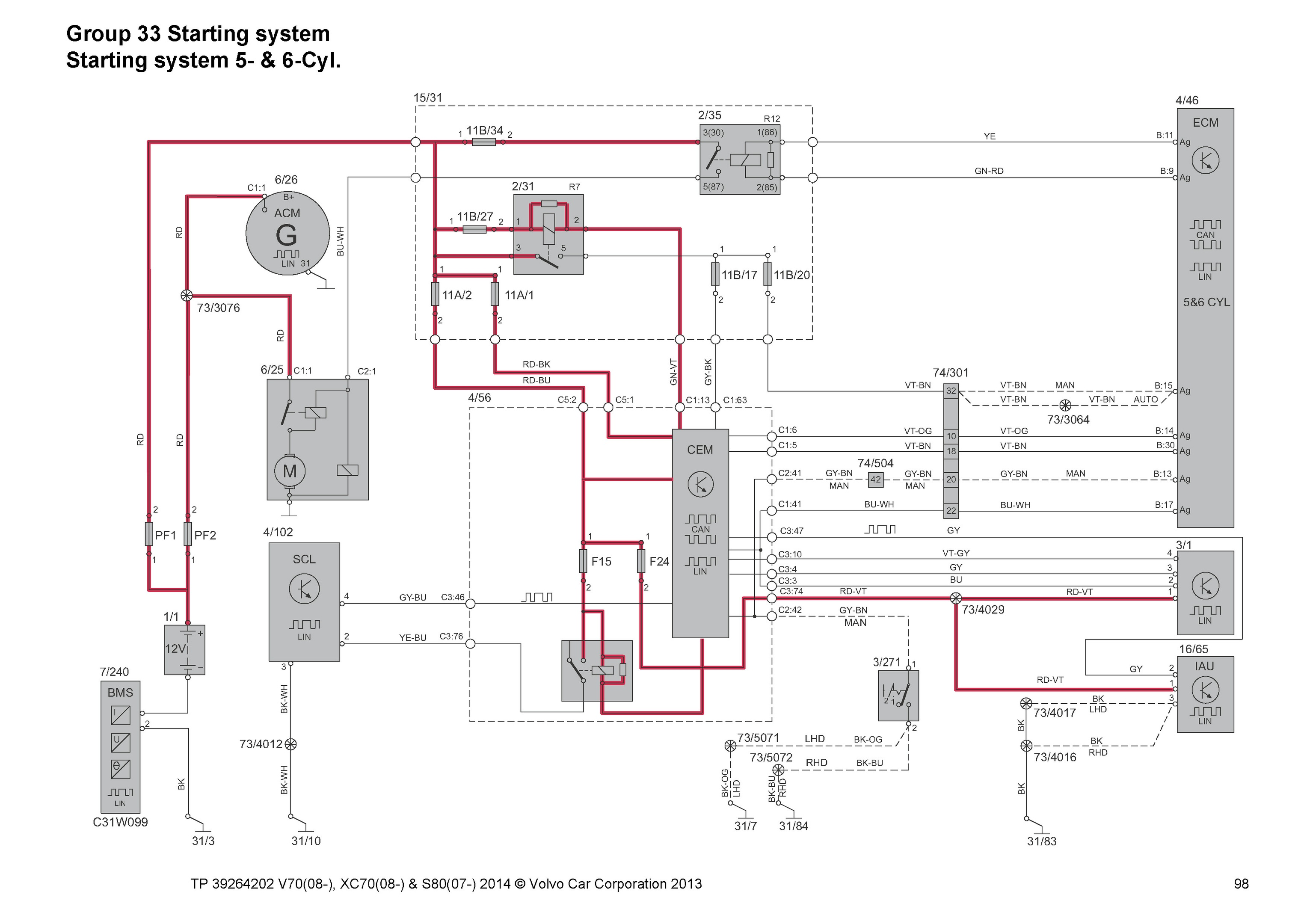 2001 Volvo S80 Fan Wiring Diagram  Volvo S60 S80 2002