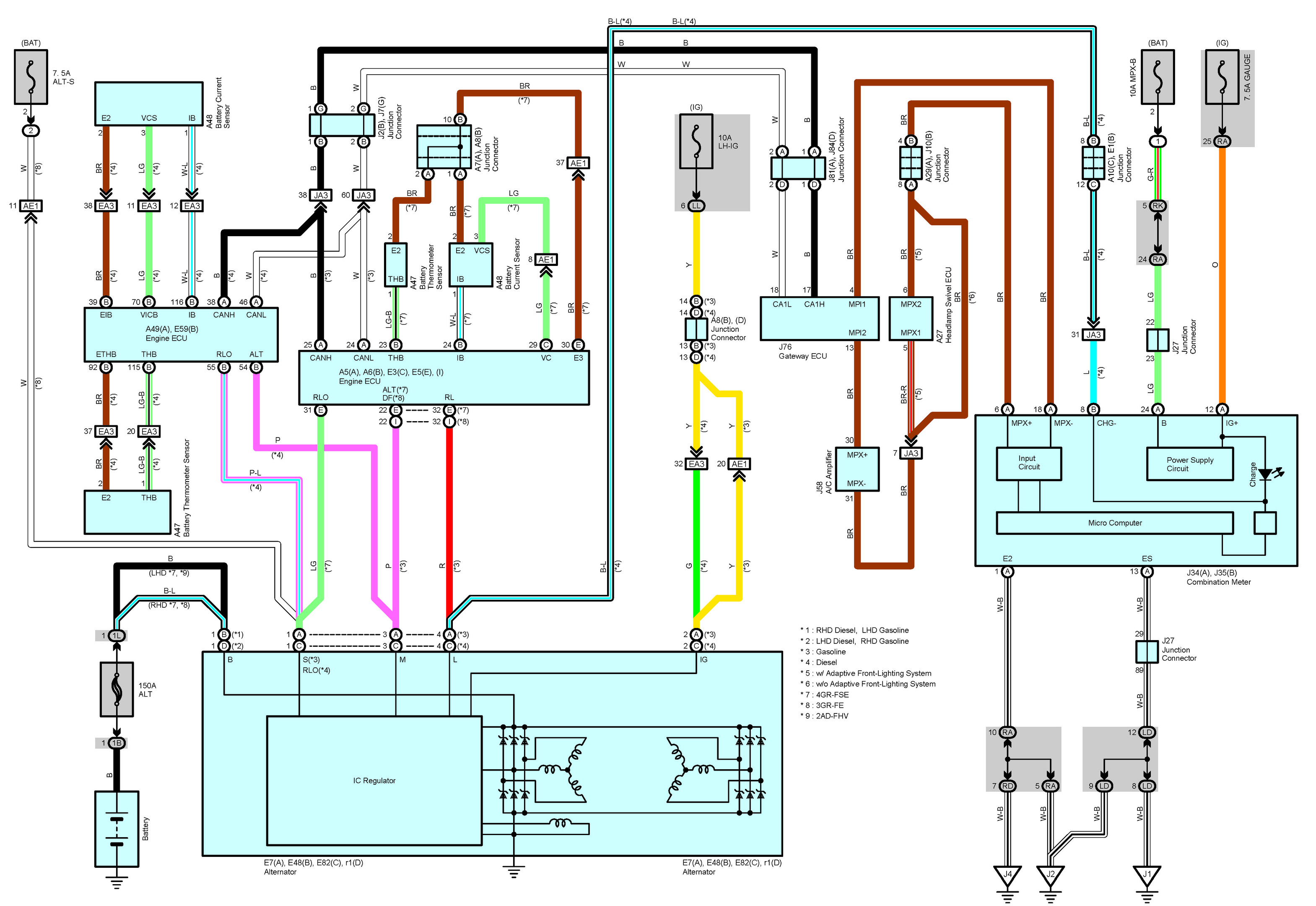 lexus ac wiring diagrams lexus sc400 wiring diagrams free: 2006 lexus is300, is250, is220d, oem electrical ...