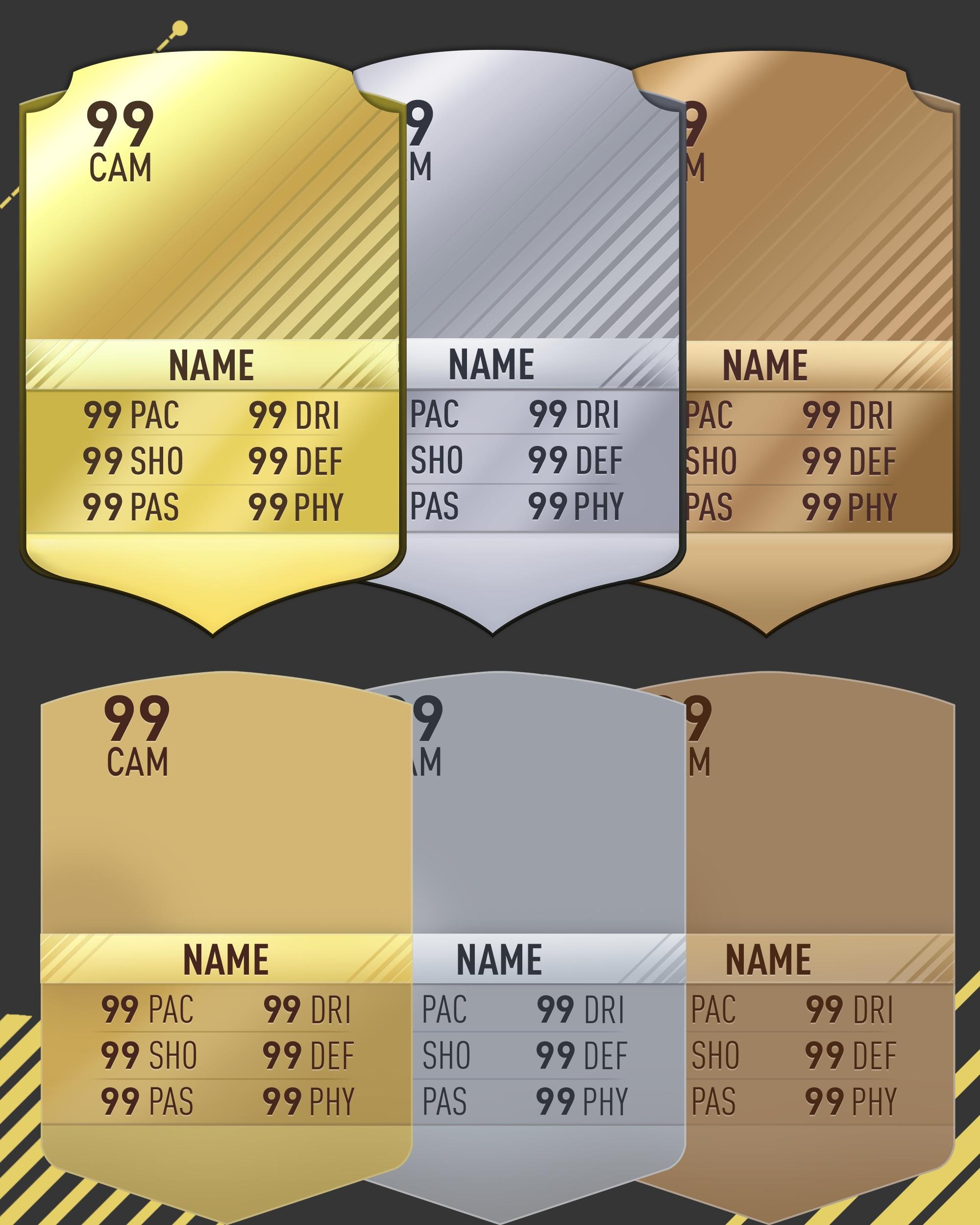 FIFA 17 RARE AND NON-RARE CARD TEMPLATE
