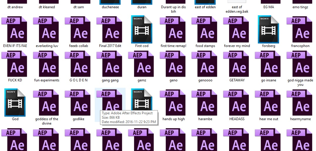 Project Files + Unfinished Edits