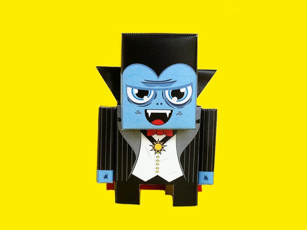 Vin Dracula Papertoy