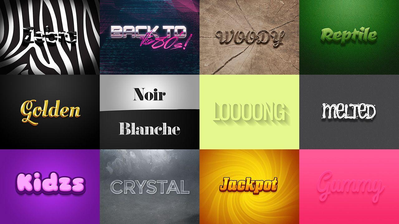 21 Photoshop Professional text effects  / 21 efectos profesionales de texto para Photoshop