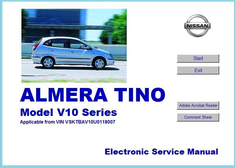 ALMERA TINO V10 WORKSHOP MANUAL
