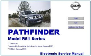 NISSAN PATHFINDER R51 WORKSHOP MANUAL