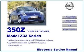 NISSAN 350Z Z33 WORKSHOP MANUAL