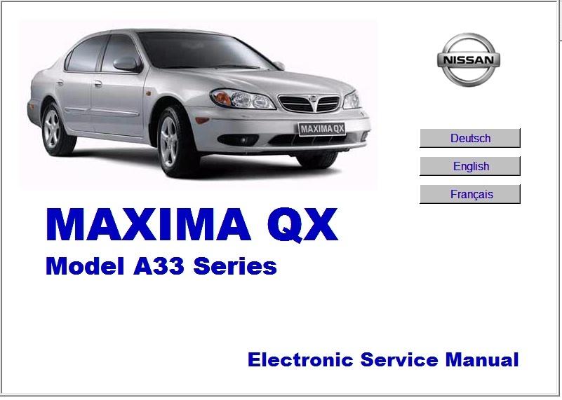 NISSAN MAXIMA QX A33 WORKSHOP MANUAL