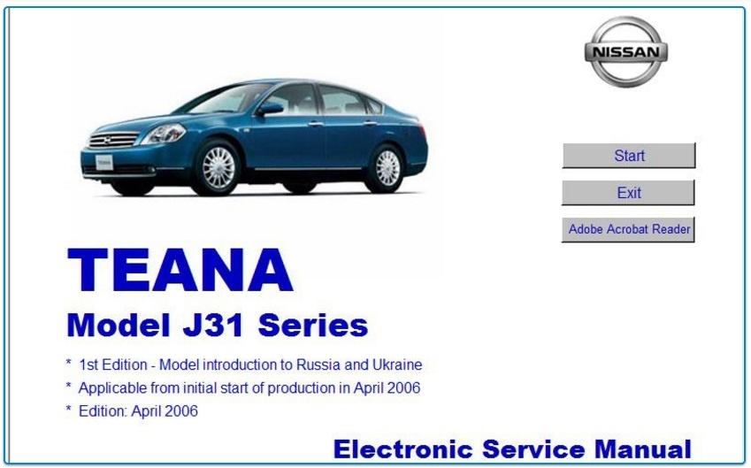 NISSAN TEANA J31 FACTORY MANUAL
