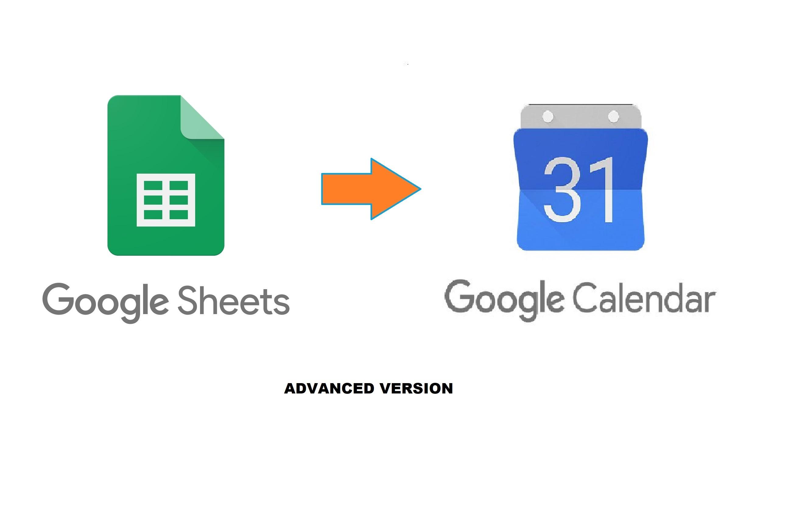 Google Sheet to Google Calendar Advanced