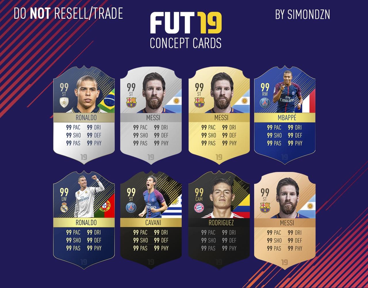 FIFA 19 Concept Cards v2