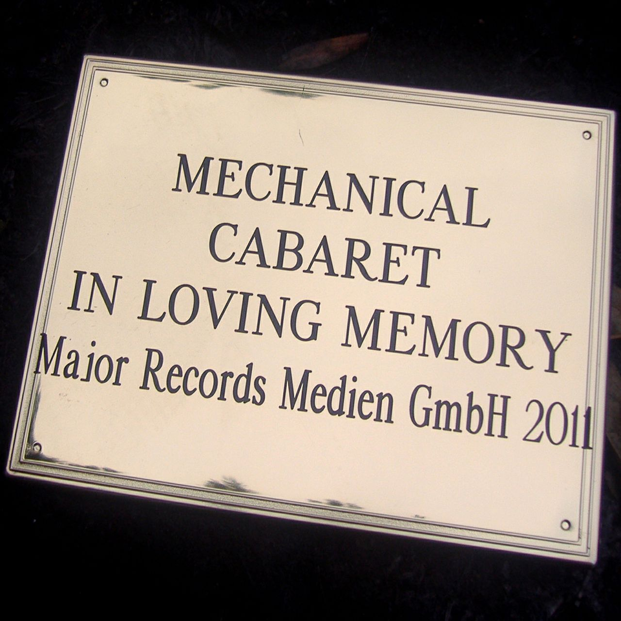 Mechanical Cabaret - In Loving Memory - Single - 3 tracks