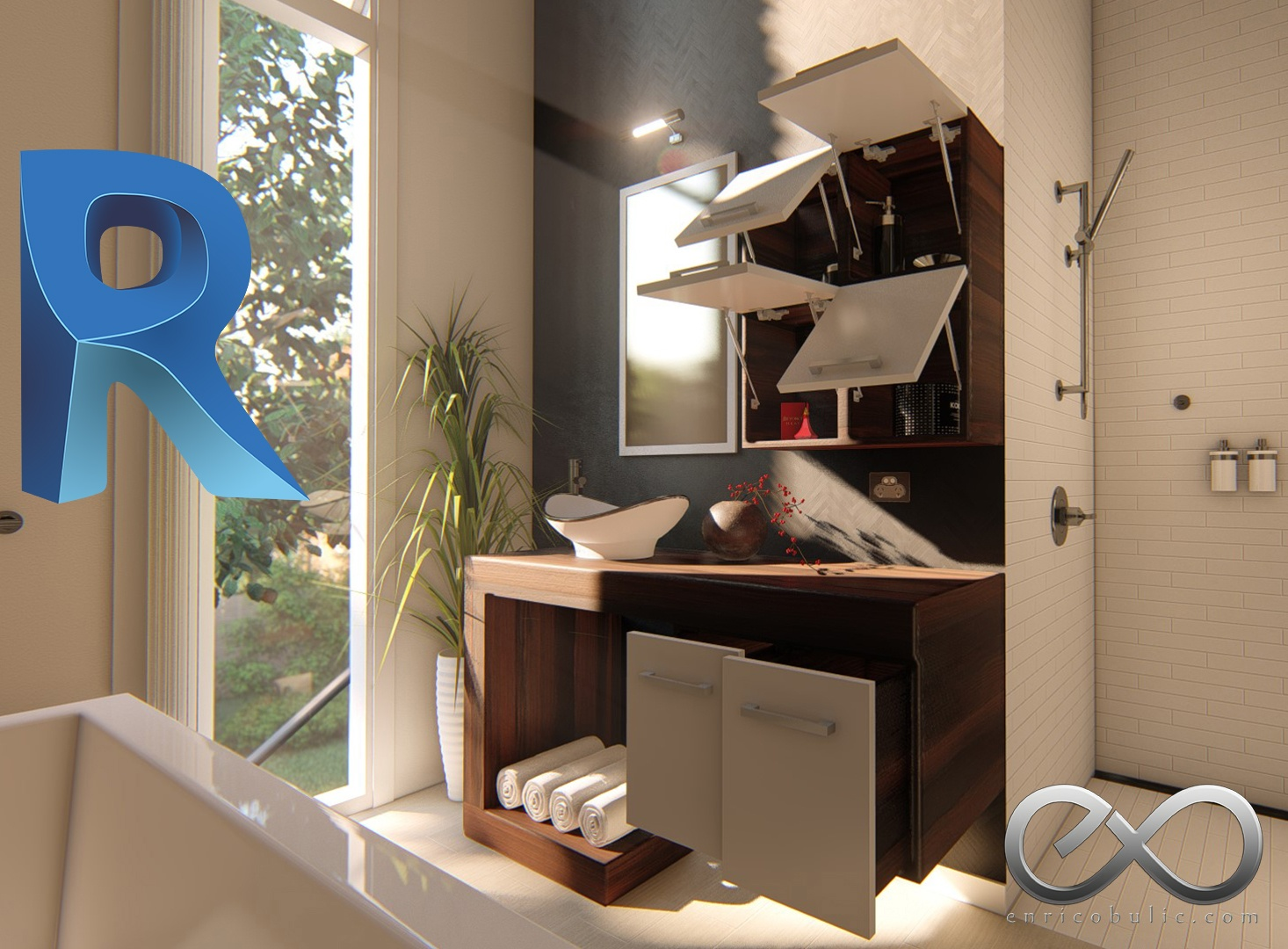 Revit Complete Cabinetry System : Vanity Unit-1