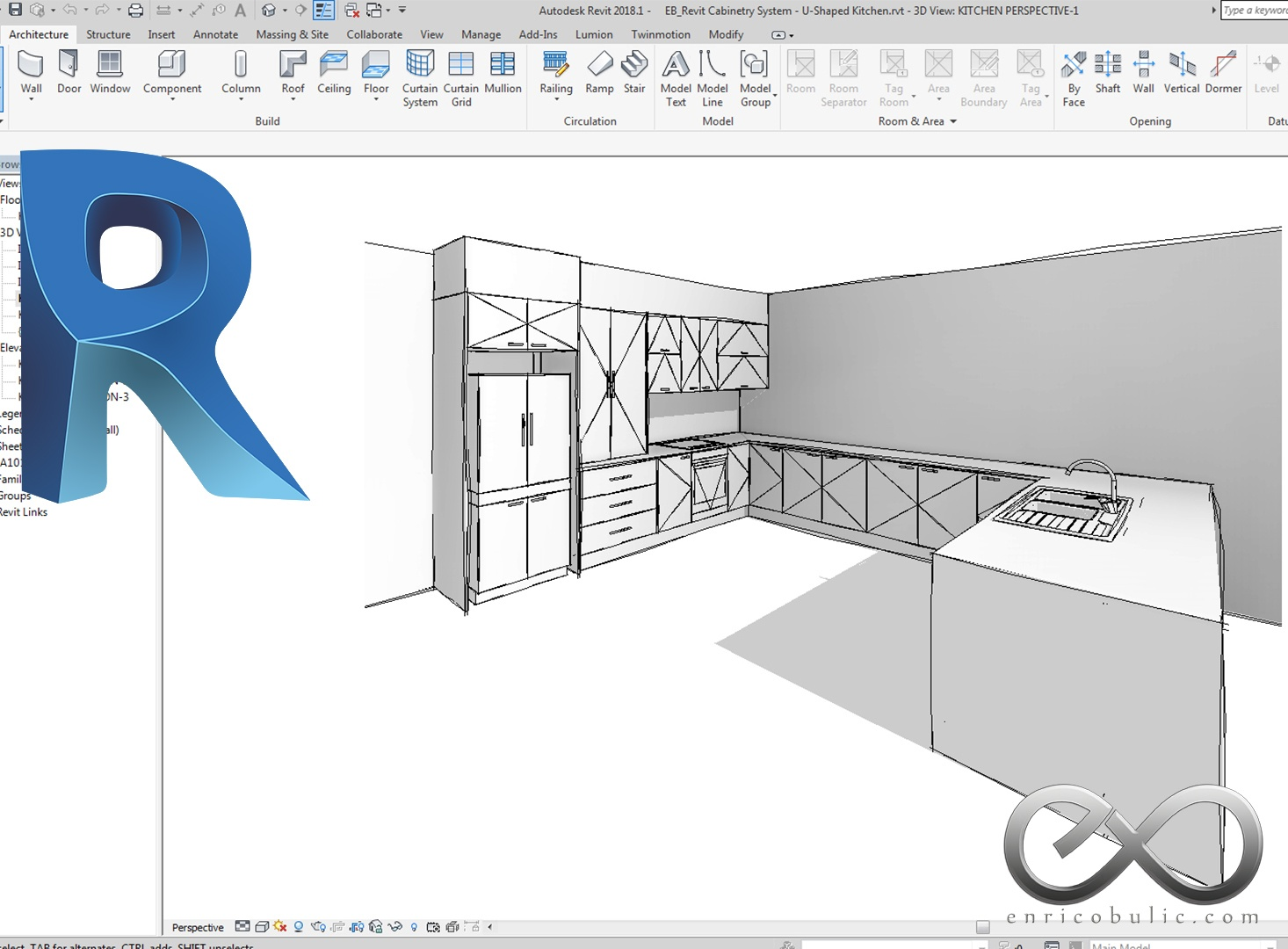 Revit Complete Cabinetry System : Kitchen-1