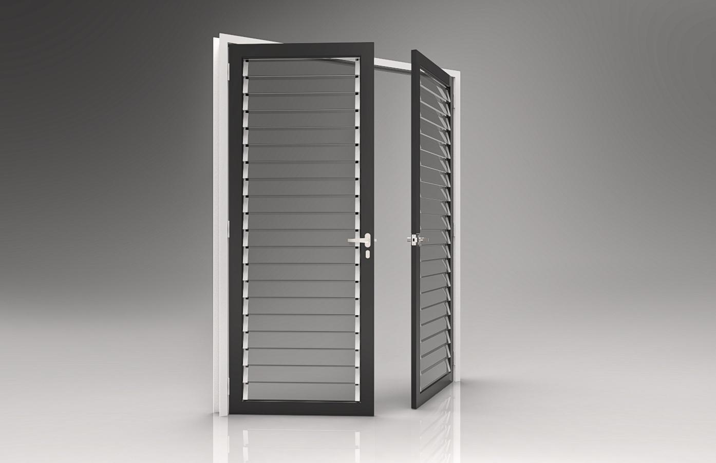 Revit Parametric Louvred Doors x 2