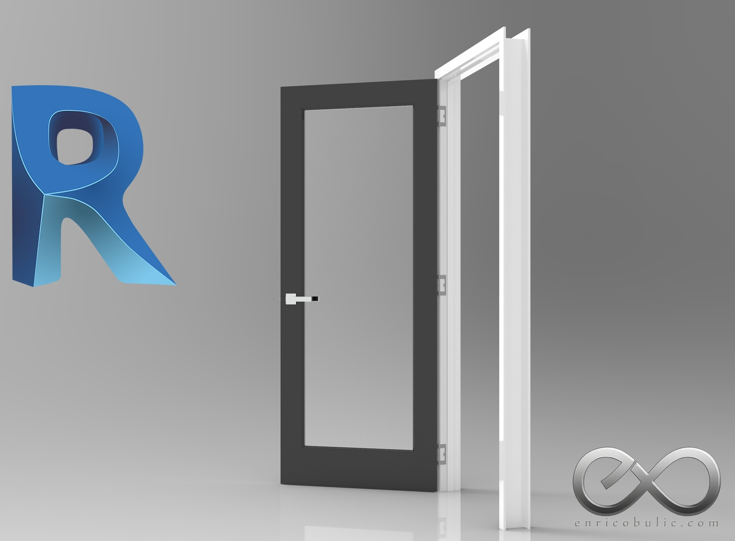 Revit Fully Parametric Glass Door