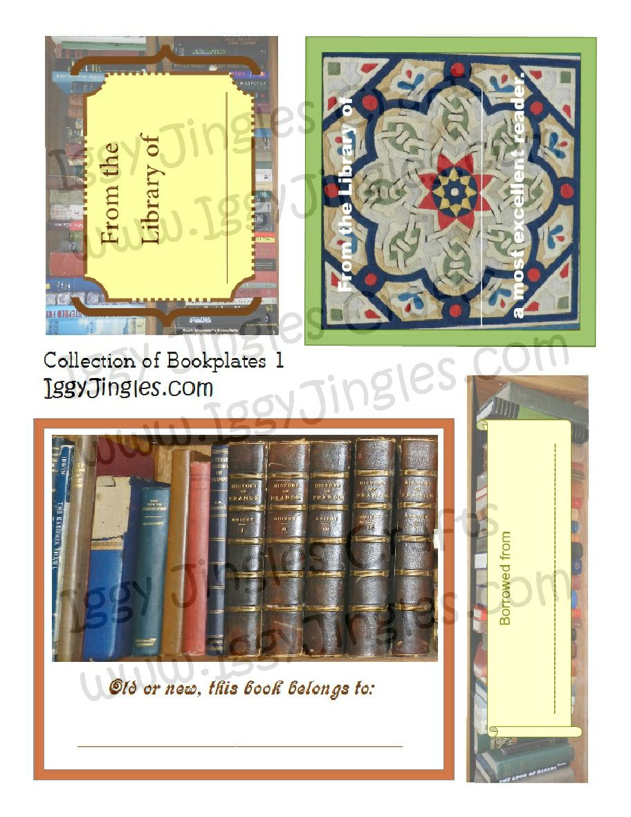 Bookplates Collage Sheet