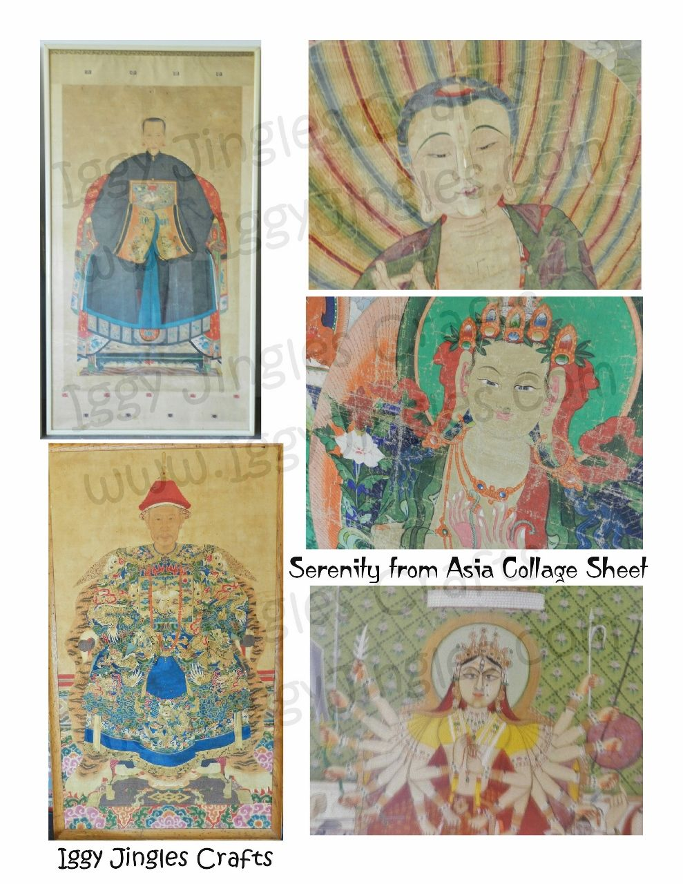 Serenity from Asia Collage Sheet