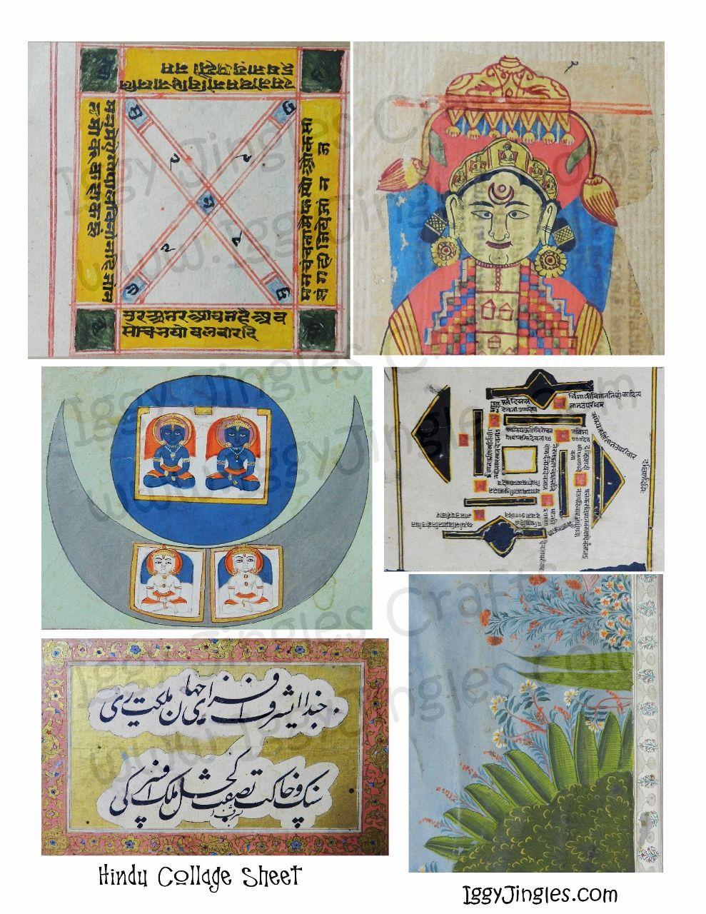 Hindu Images Collage Sheet