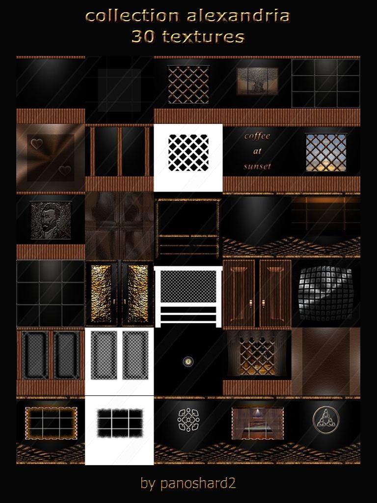 Collection alexandria 30 textures for imvu room