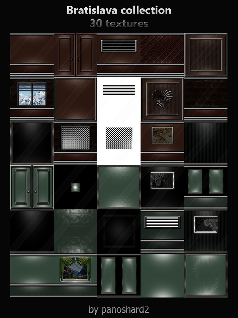 Bratislava collection 30 textures for imvu room