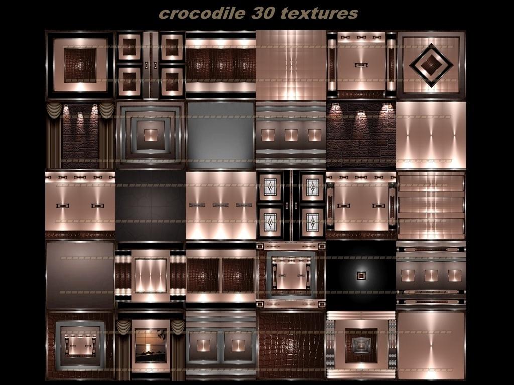 crocodile 30 textures