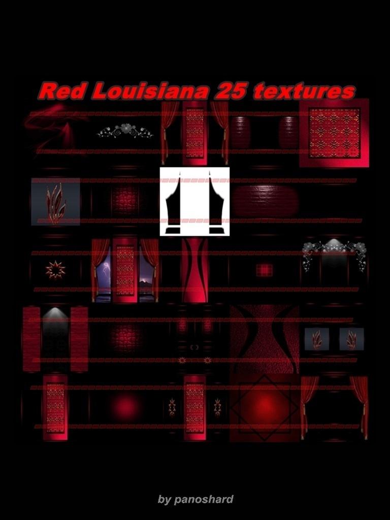 Red Louisiana 25 textures