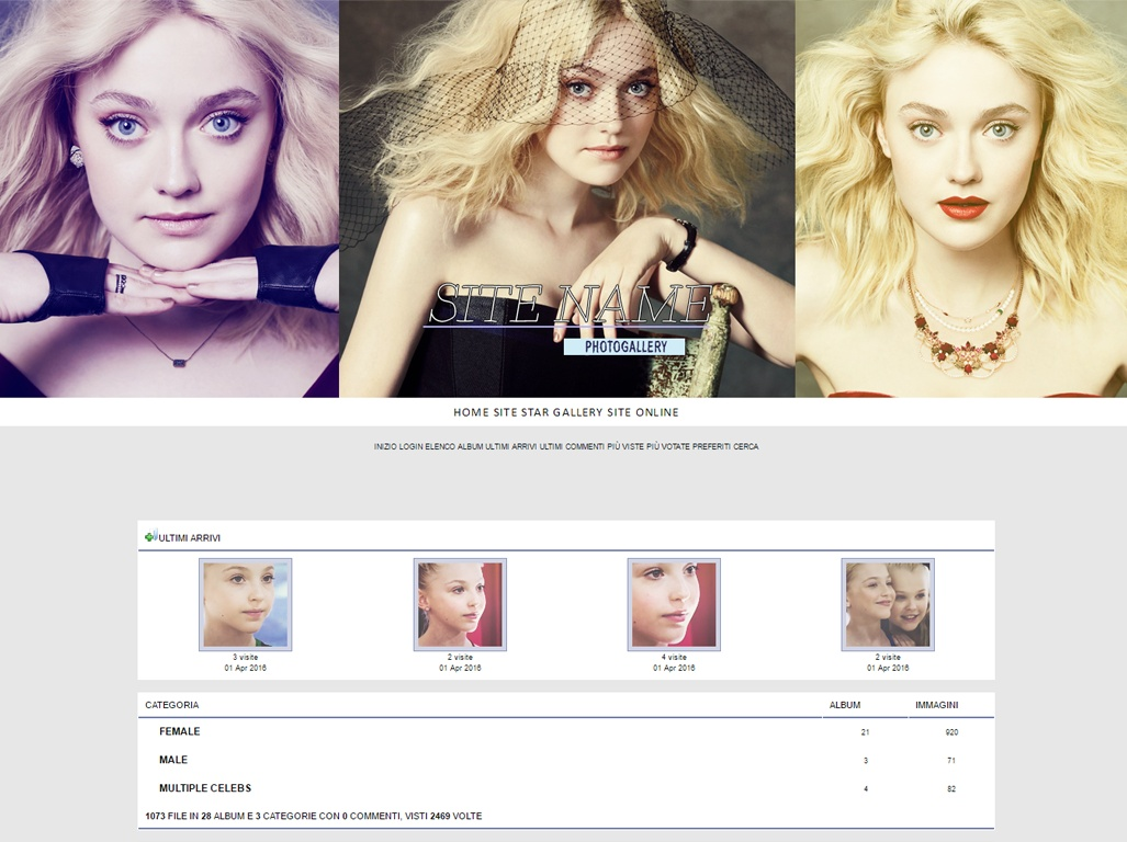 Wordpress + Coppermine premade #1