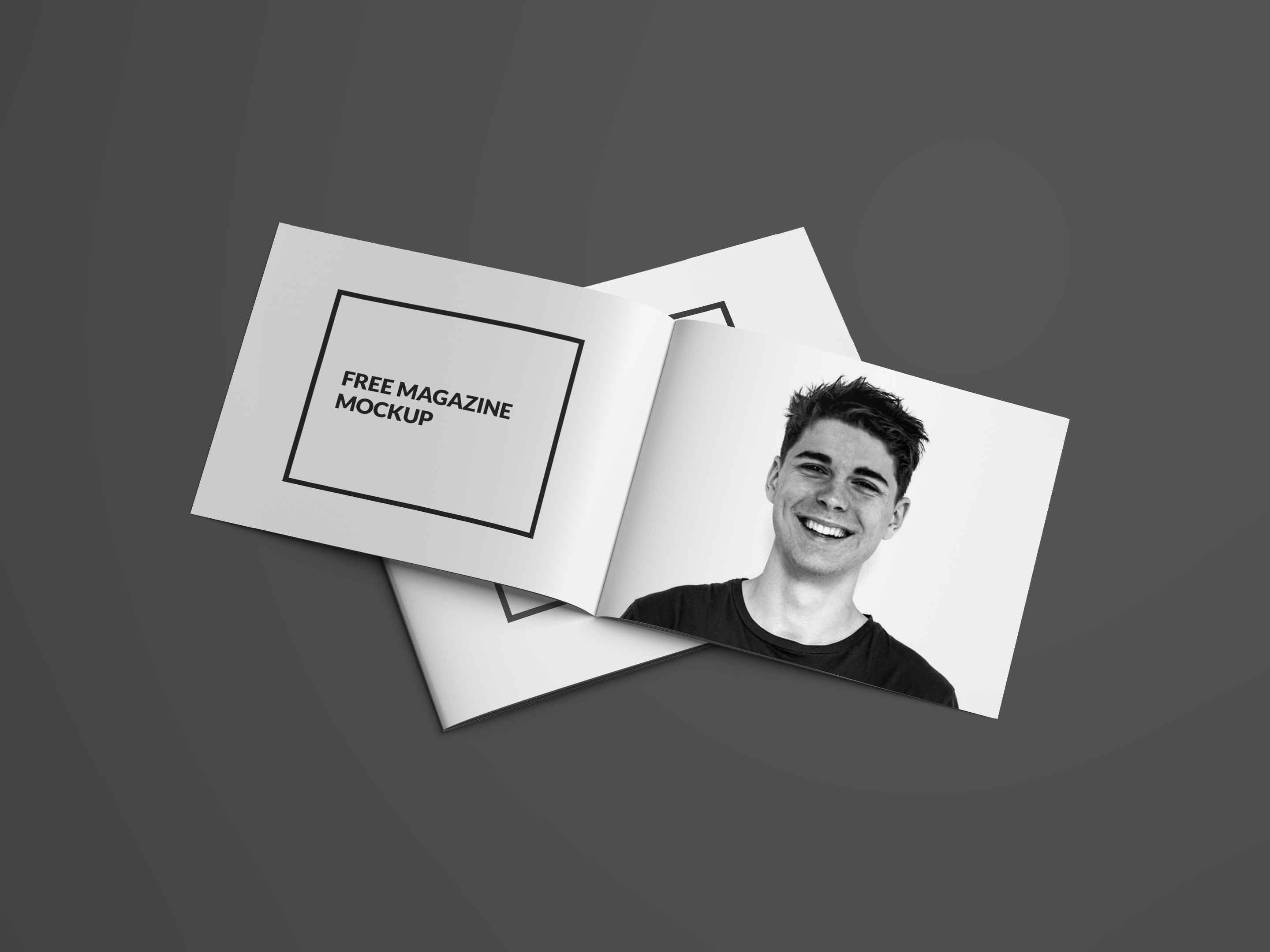 Free Magazine Mockup PSD Open and Cover PSD Mockups Free