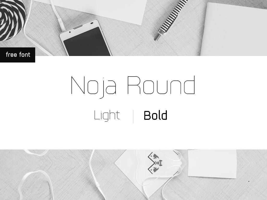 Noja Round - Free Font Tyepface