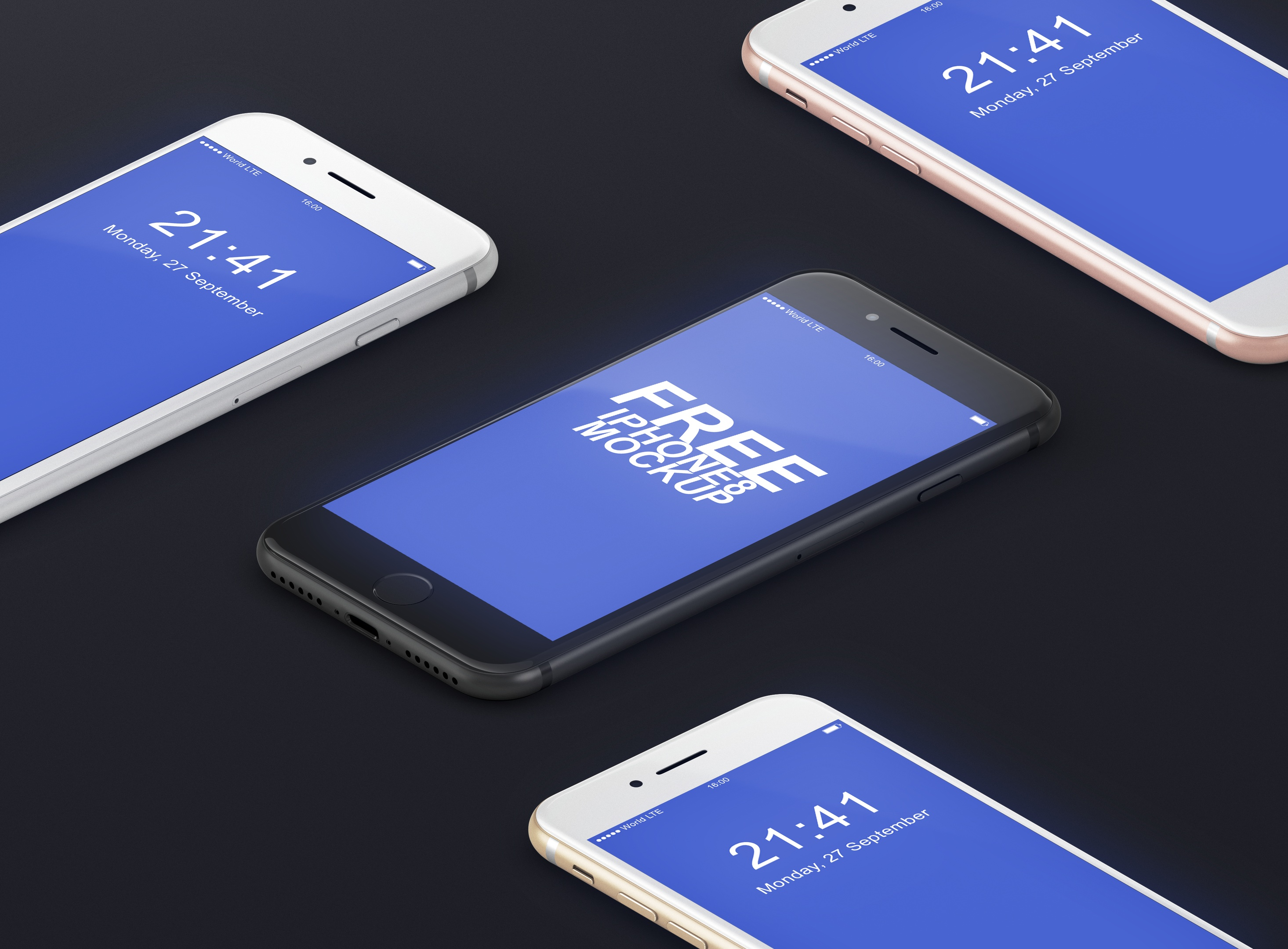 FREE iPhone 8 Mockup PSD Free Download iPhone8 Perspective Mockup PSD