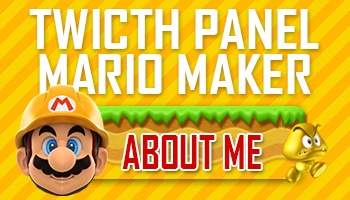 Twitch panel - Mario Maker buttons