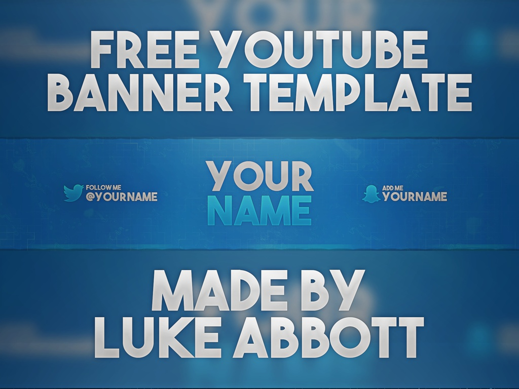FREE Youtube Banner Template Photoshop