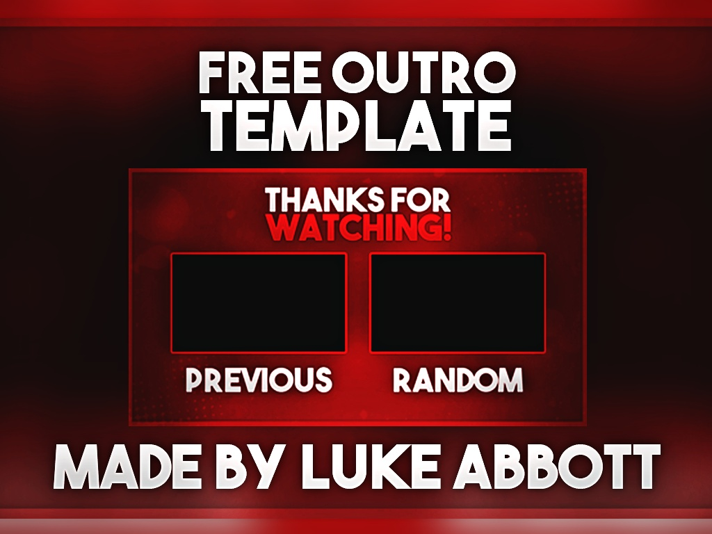Free youtube outro template photoshop lukeabbogfx sellfy free youtube outro template photoshop pronofoot35fo Choice Image